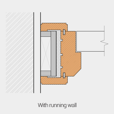 With running wall