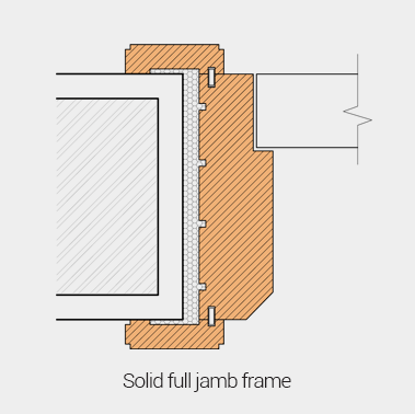 Solid full jamb frame