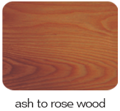 ash to rose wood