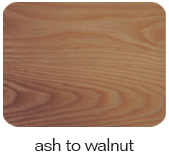 ash to walnut